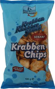 Krabben Chips scharf 100 g Beutel
