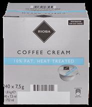 Rioba Kaffeesahne Einzelportionen 240 Stück à 7,5 g, 10 % Fett 1,8 kg Karton
