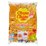 Chupa Chups Original Best Of Nachfüllbeutel sortierte Lutscher, Erdbeere, Kirsche, Apfel, Cola, Erdbeere-Sahne, Himbeere-Vanillegeschmack 250 Stück Beutel