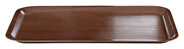 H-Line Serviertablett Holz eckig rutschfest 45 x 34 cm