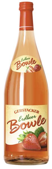 Gerstacker Erdbeer Fruchtbowle Bowle auf Weinbasis mit Erdbeergeschmack 6 x 1 l Flaschen