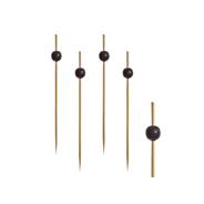 Papstar Fingerfood-Spieße Black Pearl, Bambus, 12,5 cm - 250 Stück