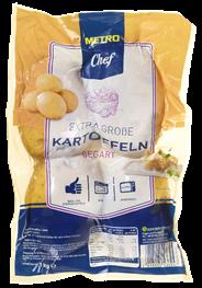 Horeca Select Baked Potatoes küchenfertig, gegarte Kartoffeln 6 x 1 kg Packungen
