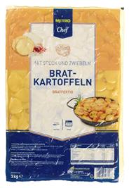 Horeca Select Bratkartoffeln bratfertig, mit Katenspeck und Zwiebeln 4 x 3 kg Packungen