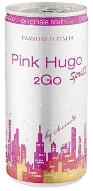 Dwt Pink Hugo Sprizz 2Go by Sovinello aromatisierter weinhaltiger Cocktail - 200 ml Dose