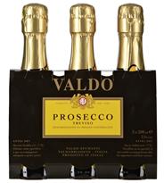 Valdo Prosecco Spumante extra trocken 3 Stück à 0,2 l 8 x 0,6 l Packungen