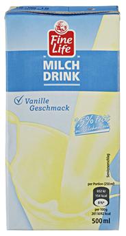 Fine Life H-Milch Drink Vanille 1,5 % Fett 16 x 500 ml Packungen