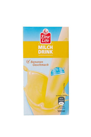 Fine Life H-Milch Drink Banane 1,5 % Fett 500 ml Packung