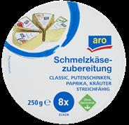 Aro Schmelzkäse Mix aus Schinken, Paprika & Sahne, 8 Ecken à 31 g 250 g Packung