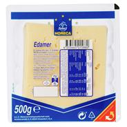 Horeca Select Edamer geschnitten 10 x 10 cm Scheiben, 40 % Fett, wiederverschließbar 500 g Packung