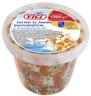 Vici MSC Surimi Maxi Shrimps In Knoblauchöl 1,5 kg Eimer