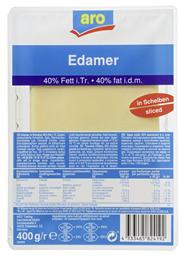 aro Edamer geschnitten 40 % Fett, wiederverschließbar 400 g Packung