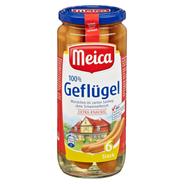 Meica Geflügel Würstchen im zarten Satling, 6 Stück 250 g Glas