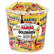 Haribo Goldbären Minis 100 Portionsbeutel à 9,8 g 42 x 980 g Dosen