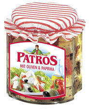 Patros mit Oliven und Paprika in Öl 105 x 300 g Tiegel