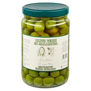 Feodora Grüne Oliven in Salzlake, mit Stein 1,7 l Glas