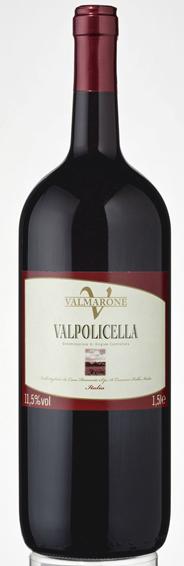 Valmarone Valpolicella Rotwein DOC Qualitätswein aus kontrollierter Ursprungsbezeichnung 6 x 1,5 l Flaschen