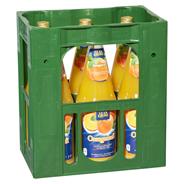 Glankrone Orangensaft 100% Fruchtgehalt, Fruchtsaftkonzentrat 6 x 1 l Flaschen