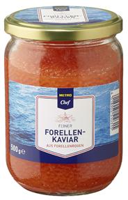METRO Chef Forellen-Kaviar aus Forellenrogen - 500 g Glas