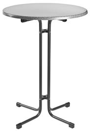 MFG Klappbarer Stehbiertisch, Grau, Ø 80 cm