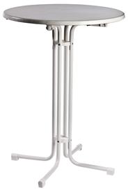 MFG Klappbarer Stehbiertisch, Weiß, Ø 80 cm