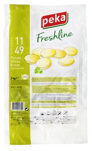 Freshline Kartoffelscheiben 8 mm 2 kg Beutel