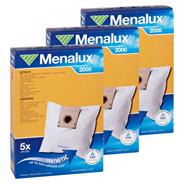 Menalux 2000 Staubbeutel 3er Pack zu je 5 Staubbeutel + 1 Micro Filter Duraflow 3 x 3 Stück