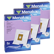Menalux 4000 Staubbeutel 3er Pack zu je 5 Staubbeutel + 1 Motor Filter