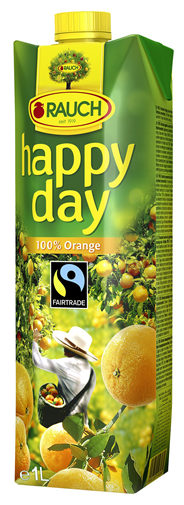 Happy Day Orange Fairtrade Fruchtgehalt 100% 12 x 1 l Packungen