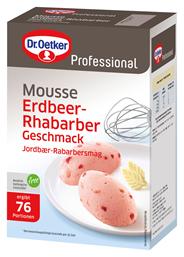 Dr. Oetker Mousse Erdbeer-Rhabarber-Geschmack 76 Portionen 1 kg Packung