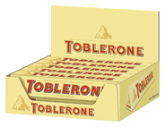 Toblerone Schokolade Milch Schweizer Milchschokolade mit Honig- und Mandel-Torrone (10%) 20 x 100 g