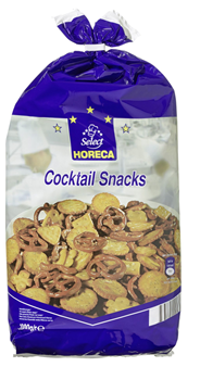 Horeca Select Cocktail Snack Salzgebäck Mix mit Salzbrezeln, Crackern 1 kg Beutel