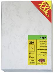 Sigel Marmorpapier DIN A4 90 g / m² Grau 250 Blatt