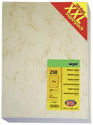Sigel Marmorpapier DIN A4 90 g / m² Beige 250 Blatt