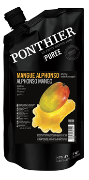 Ponthier Fruchtpüree Mango gezuckert, aus Frankreich 1 kg Beutel