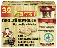 Favorit Öko-Zündwolle ca. 10 Minuten - (96 x 32 Stück)