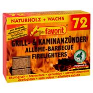 Favorit Grill- & Kaminanzünder - 72 Stück