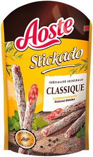 Aoste Stickado Classique Lufgetrocknete Mini-Salamis 70 g, 6-7 Stück