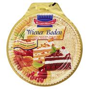 Kuchenmeister Wiener Tortenboden hell 2-fach geschnitten, verzehrfertig, heller Wiener Boden 8 x 500 g Packungen