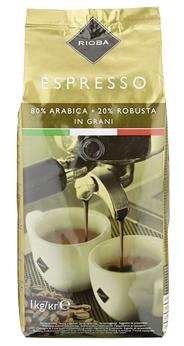 Rioba Gold Espresso ganze Bohnen 1 kg Beutel