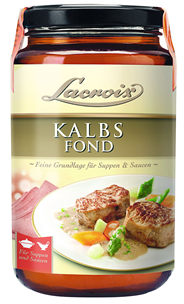 Lacroix Kalbs Fond feine Grundlage für Saucen und Suppen 6 x 400 ml Tiegel