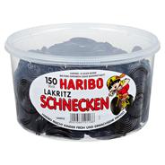 Haribo Lakritz Schnecken 150 Stück, 1,27 kg Dose
