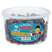 Haribo Salz Brezeln 150 Stück, 1,05 kg 6 Dosen