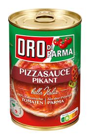 Oro di Parma Pizzasauce Pikant 425 ml Dose