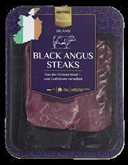 Metro Premium Irisches Black Angus Rinderentrecôtesteaks vak.-verpackt, 2 Stück à ca. 200 g