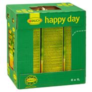 Happy Day Mango-Saftgetränk mind. 26% Fruchtgehalt (23% Mango, 3% Maracuja) 6 x 1 l Packungen