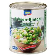 Aro Erbseneintopf mit geräuchertem Schweinebauch, Kartoffeln & Karotten 850 ml Dose