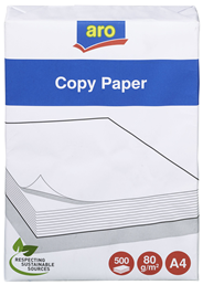 aro Kopierpapier A4 80 g/m² 500 Blatt Packung