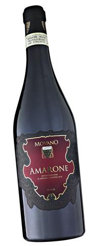 Movano Amarone Rotwein DOCG höchste Qualitätsstufe 6 x 0,75 l Flaschen