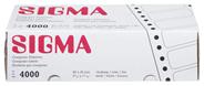 Sigma Selbstklebende Etiketten 4000 Stück Schachtel